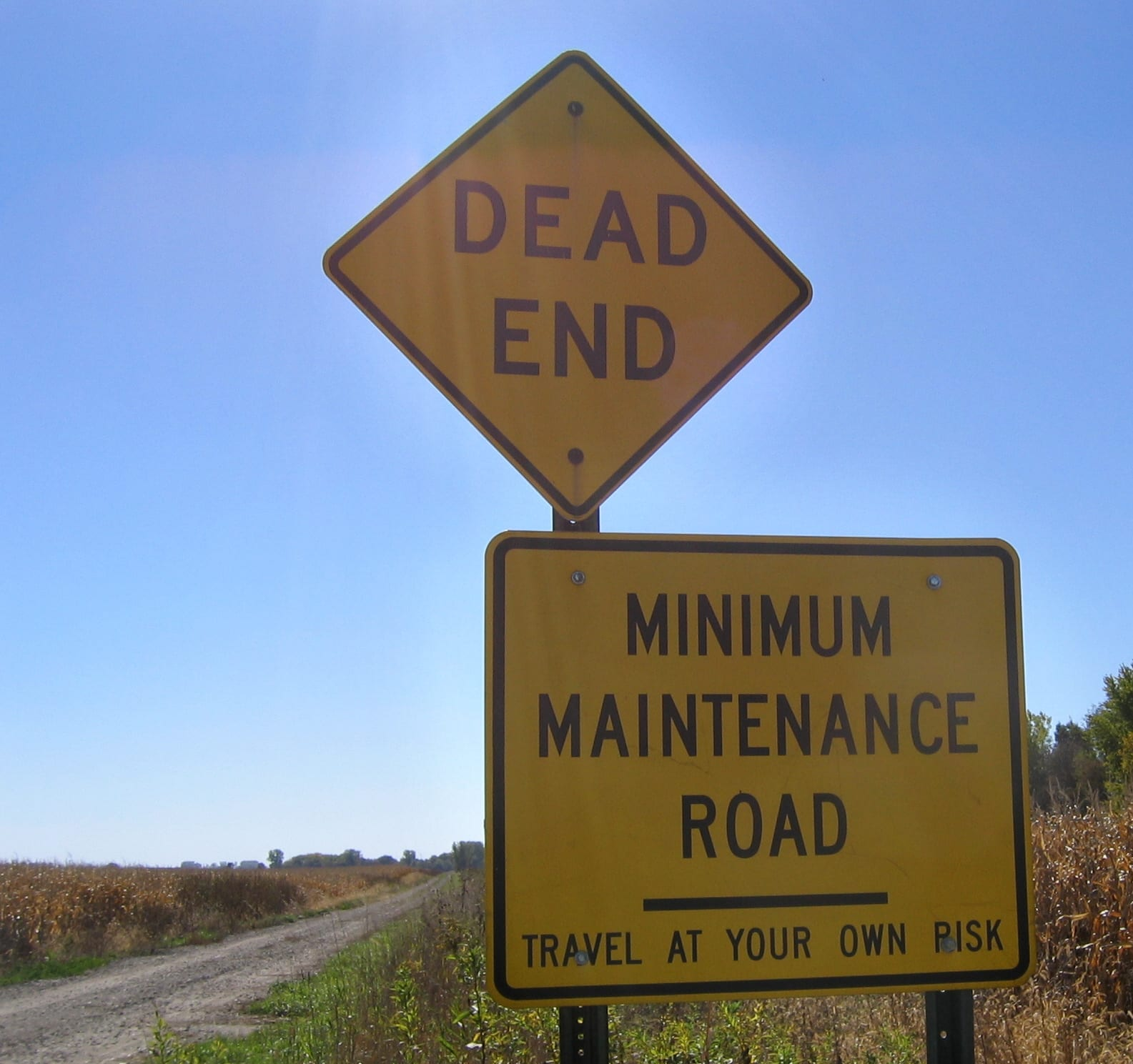 Website Maintenance represented by maintanence road sign