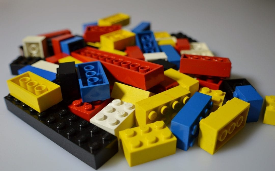 Testing Automation represented by lego building blocks