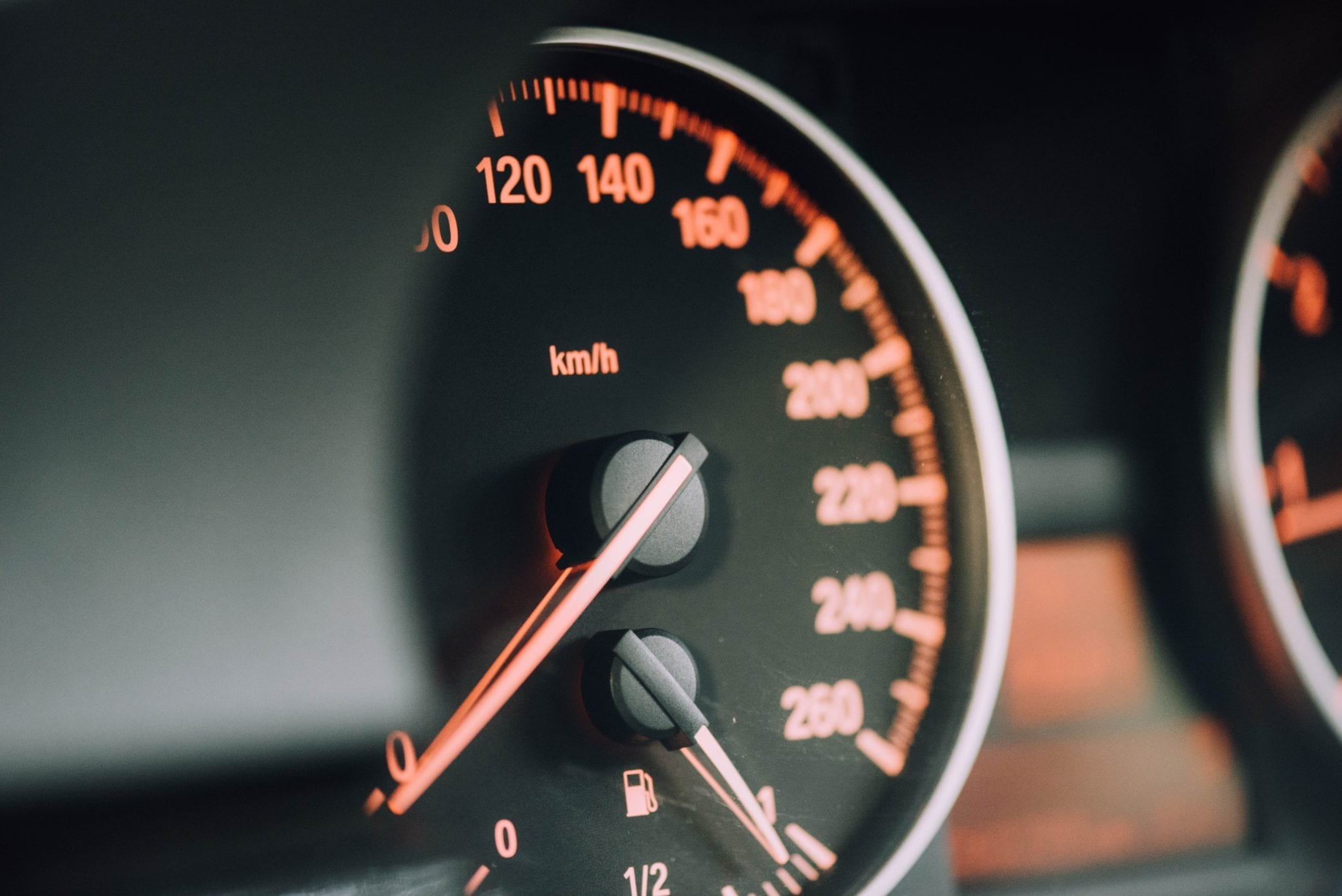 website speed represented by speedometer