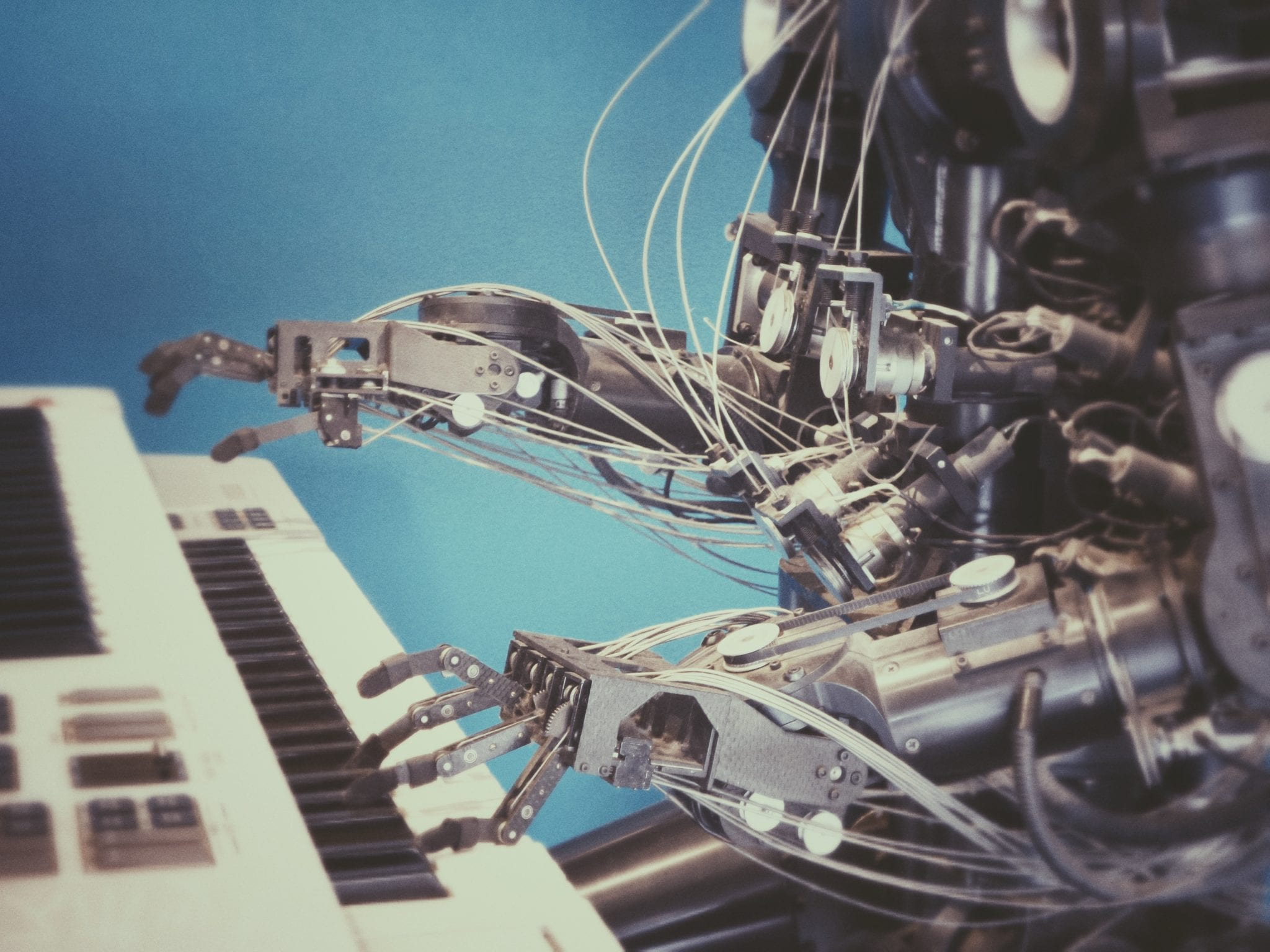 Automation Engagement Flow represented by robot playing keyboard